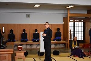駒澤大学高等学校での坐禅指導